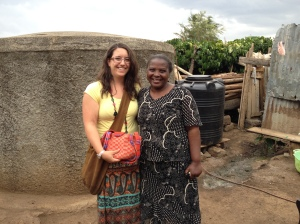 Jane gifted Abbi, who is returning to Congo, with a handbag to take back to her church in Congo - the bag is to be used for offerings.