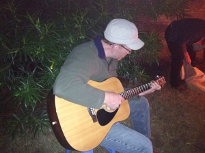 Phil played guitar while we sang Christmas carols and read Scripture together.