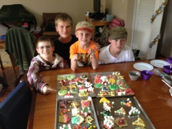 Decorating Christmas cookies helped get us in a festive mood!