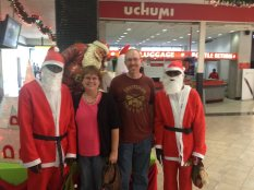 We just had to get a pic! The Santas also asked to take a pic with their phone.