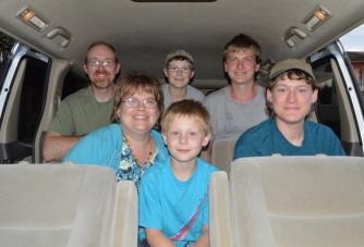 Inside our new van!